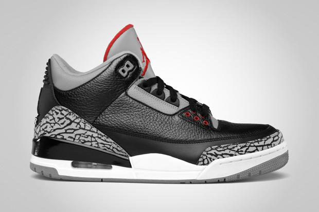 Sneakers  Air Jordan 3 Retro Black Varsity Red-Cement Grey   Air Jordan 3  Flip Black Release Dates 0257e6ea7a
